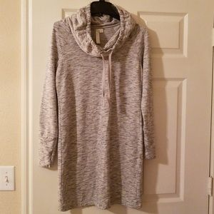 Green Tea Oversized neck sweater dress super soft